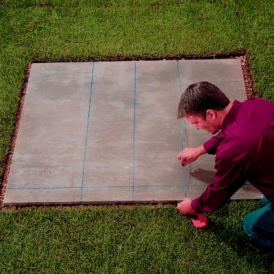 Lineas guia en base de cemento para barbacoa de obra