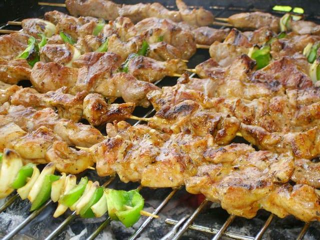parrillada de carne y verduras